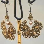 Butterfly Filigree Earrings