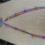Colorful Spring Necklace with Origi..