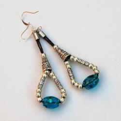 Turquoise and Silver Bohemian Earrings
